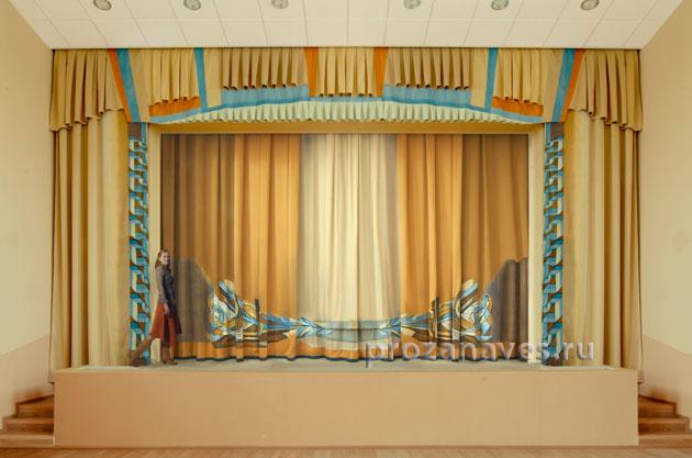 Занавес с аппликацией, ДК «Опалиха», Красногорск, 2012