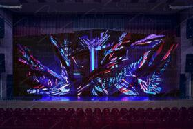 Бархатный занавес для сцены с флюоресценцией